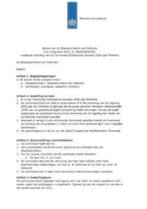 Instelling Commissie 'schrijnende gevallen AOW-gat militairen'